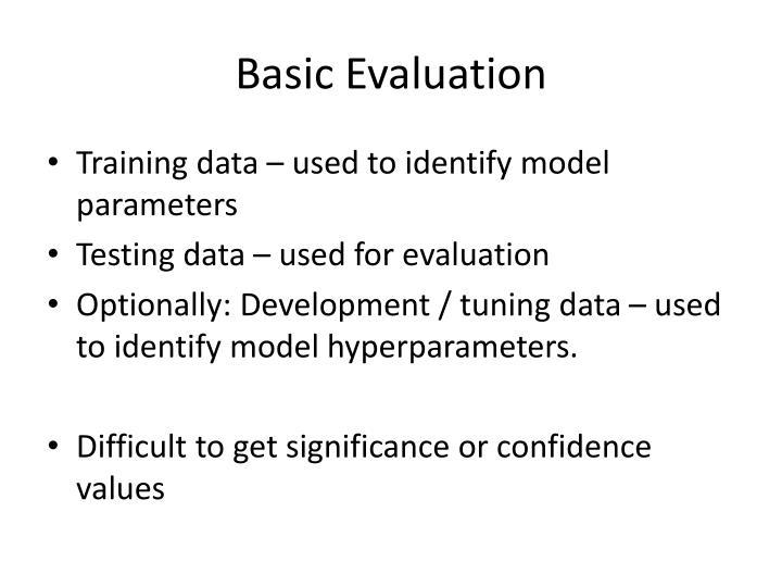 Basic Evaluation