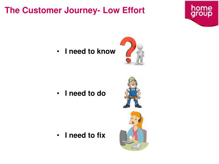 The Customer Journey- Low Effort