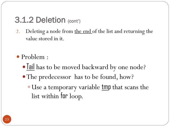 3.1.2 Deletion