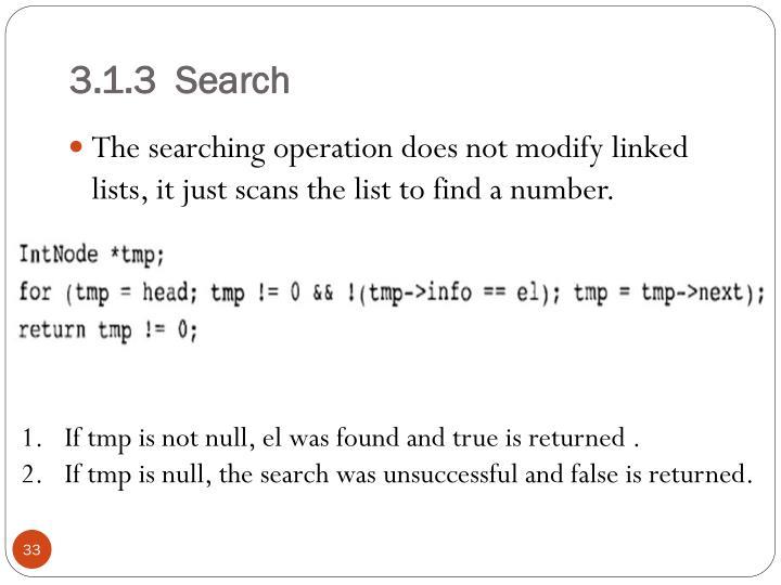 3.1.3  Search