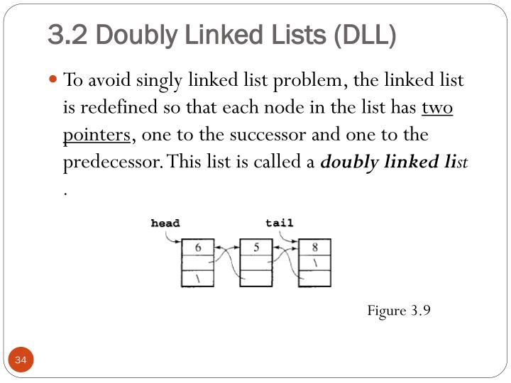 3.2 Doubly Linked Lists (DLL)