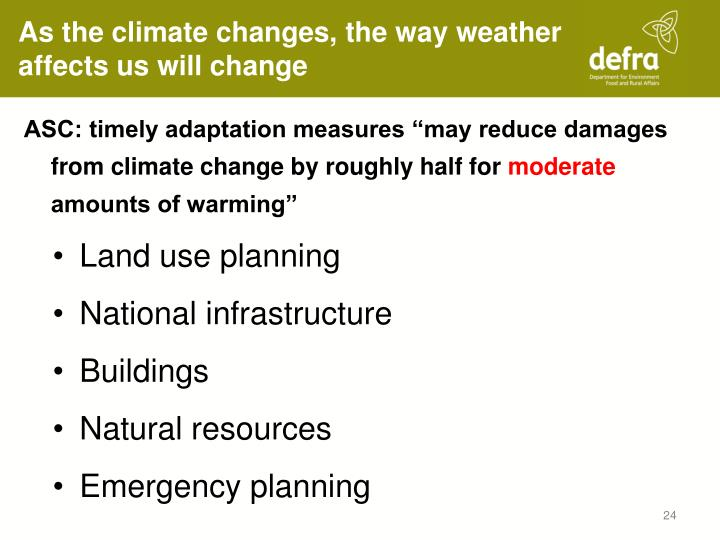As the climate changes, the way weather affects us will change
