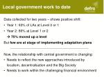 local government work to date