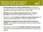 renewing our delivery model for adaptation advice and support