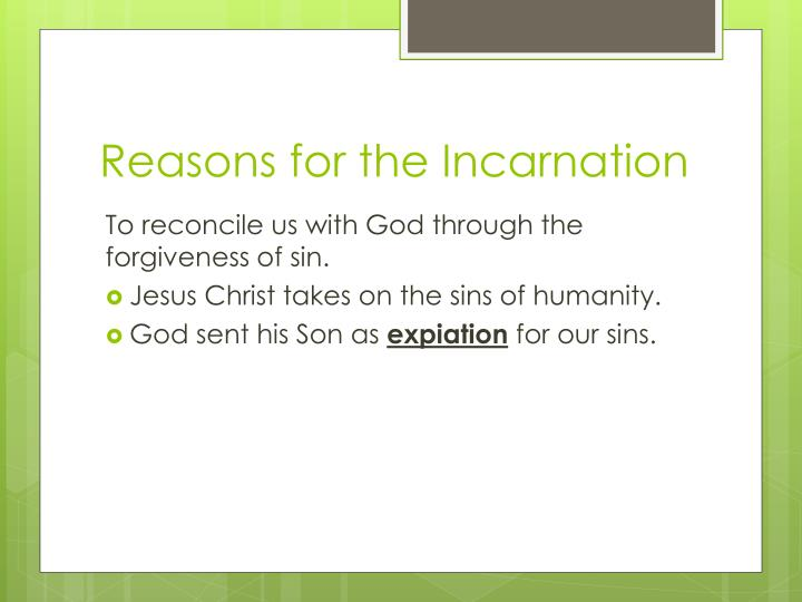 Reasons for the Incarnation