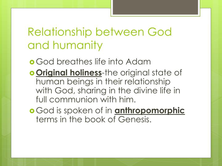 Relationship between God and humanity