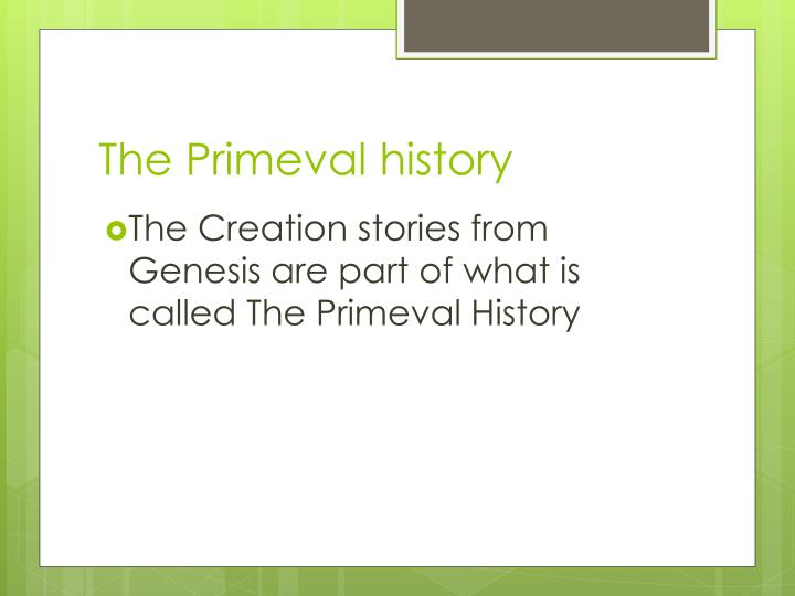 The Primeval history