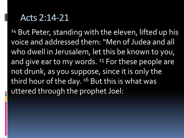 Acts 2:14-21