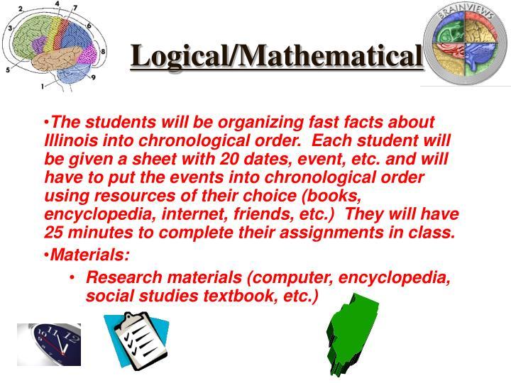 Logical/Mathematical