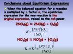 conclusions about equilibrium expressions1