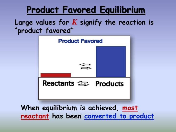 Product Favored Equilibrium