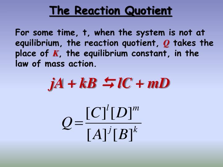 The Reaction Quotient