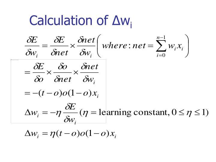 Calculation of ∆