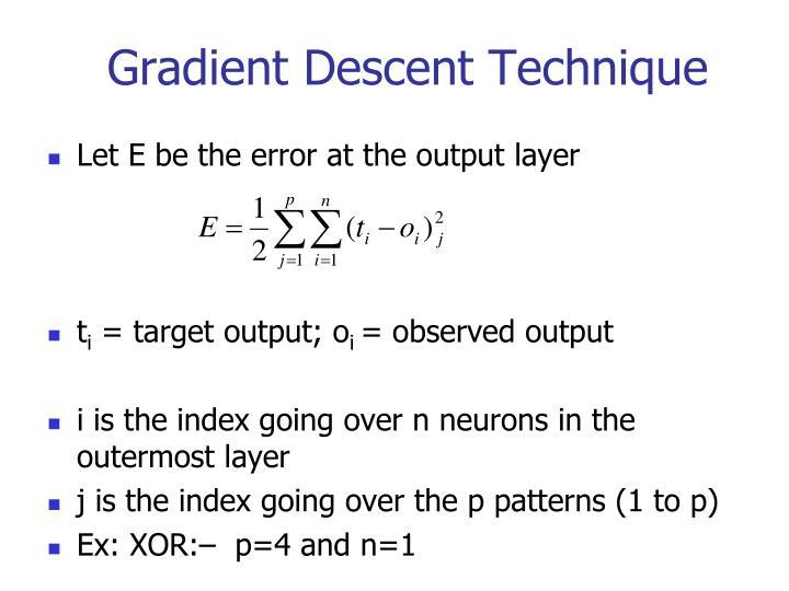 Gradient Descent Technique