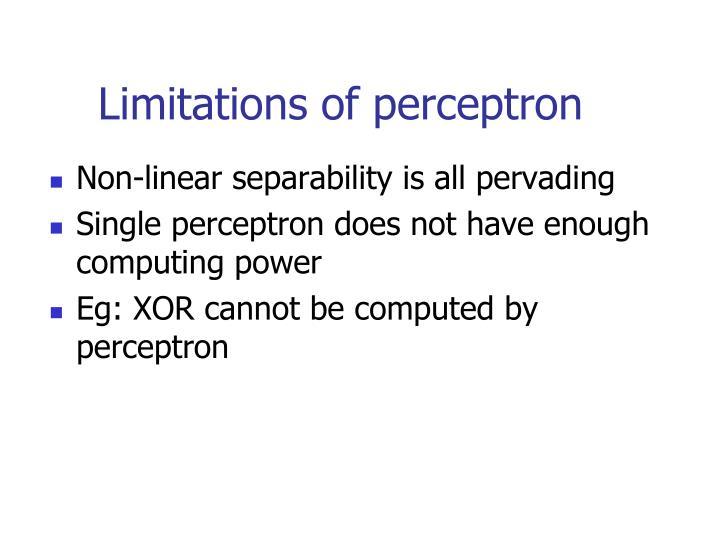Limitations of perceptron