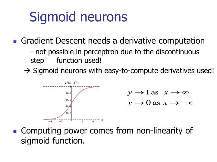 Sigmoid neurons