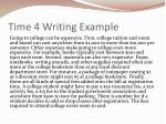 time 4 writing example