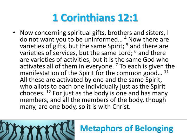 1 Corinthians 12:1