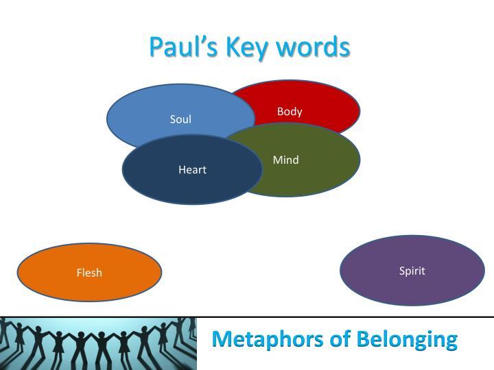 Paul's Key words