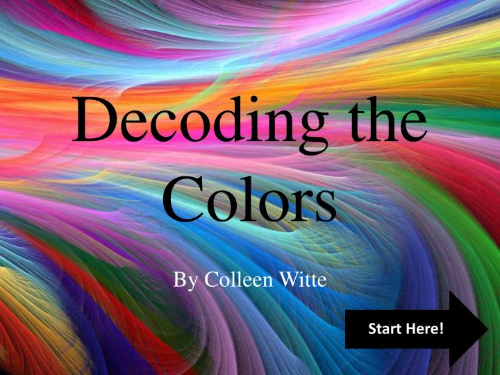 decoding the colors