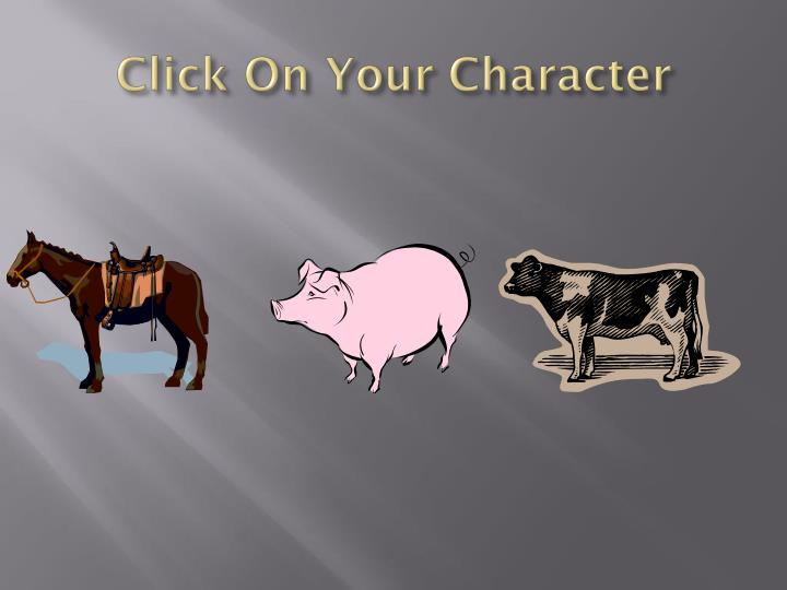 Click On Your Character