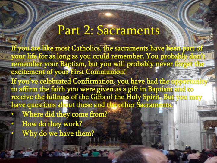 part 2 sacraments