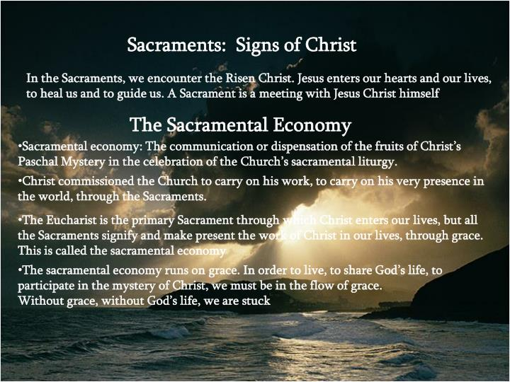 The Sacramental Economy