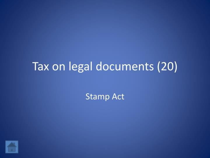 Tax on legal documents (20)