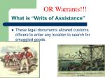 what is writs of assistance