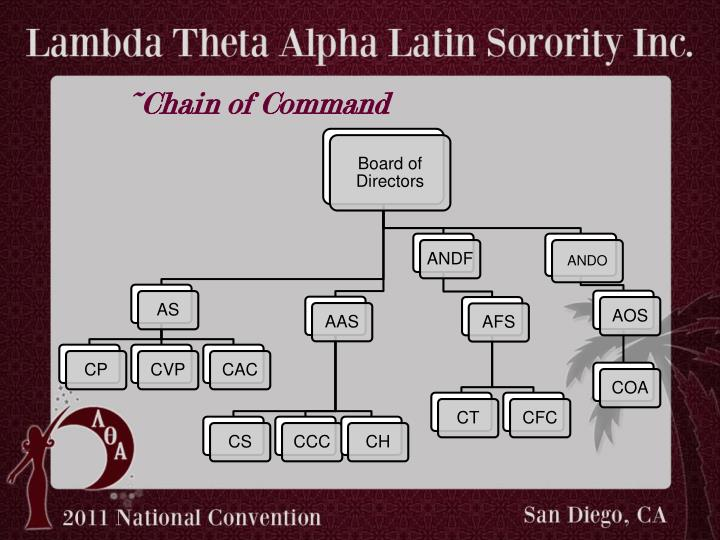 ~Chain of Command