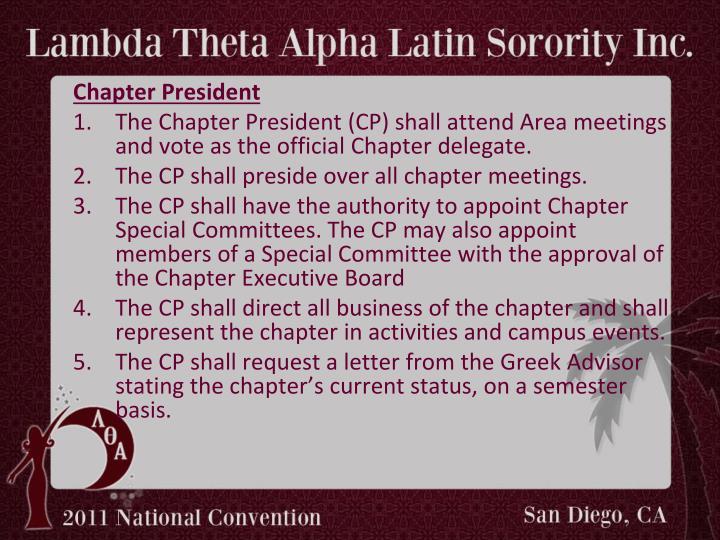 Chapter President
