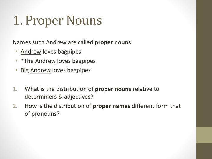 1. Proper Nouns