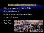 massachusetts rebels