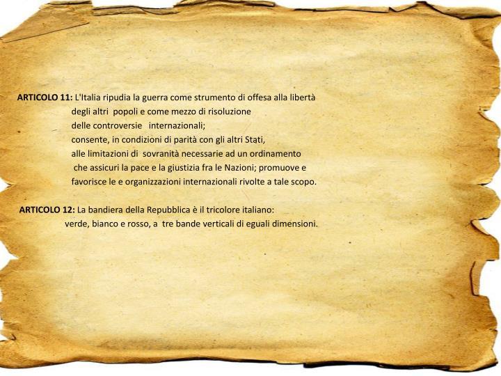 ARTICOLO 11: