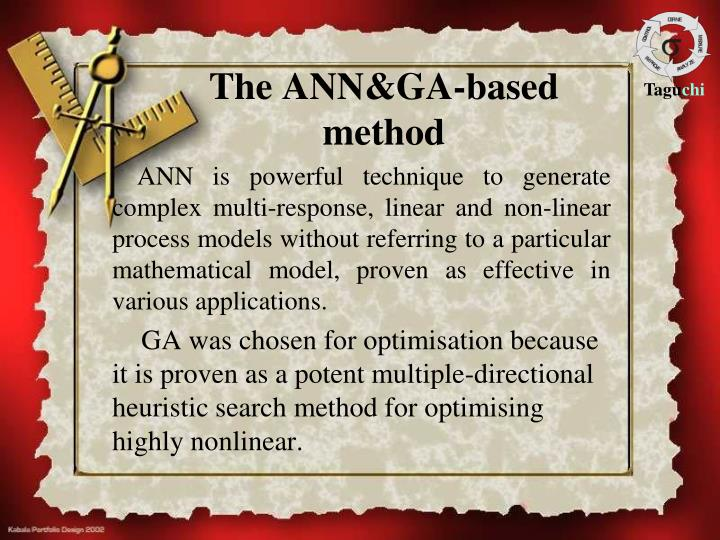 The ANN&GA-based method