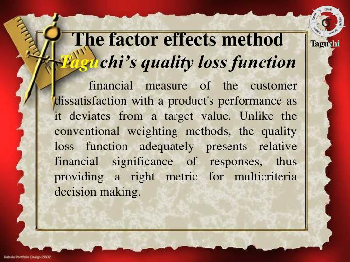 The factor effects method