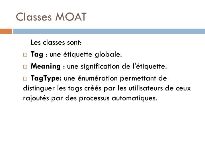 Classes MOAT