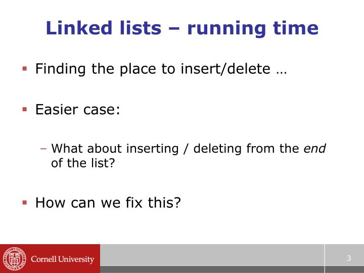 Linked lists running time1