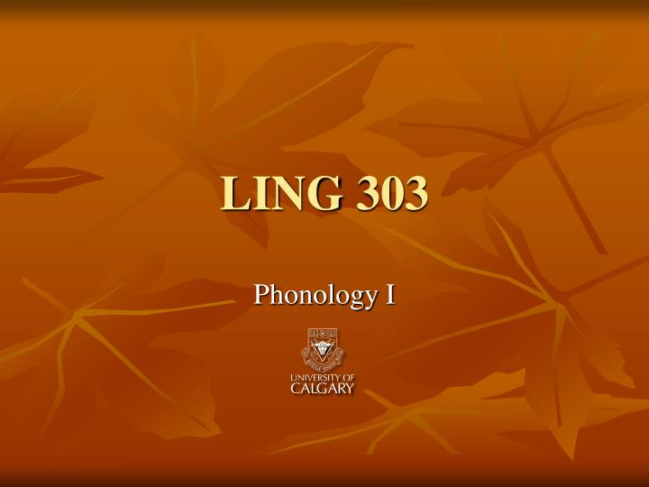 ling 303