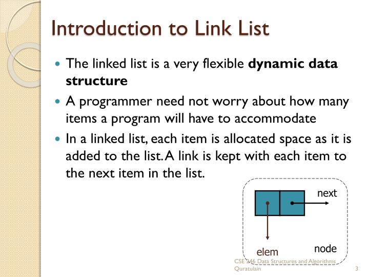 Introduction to link list