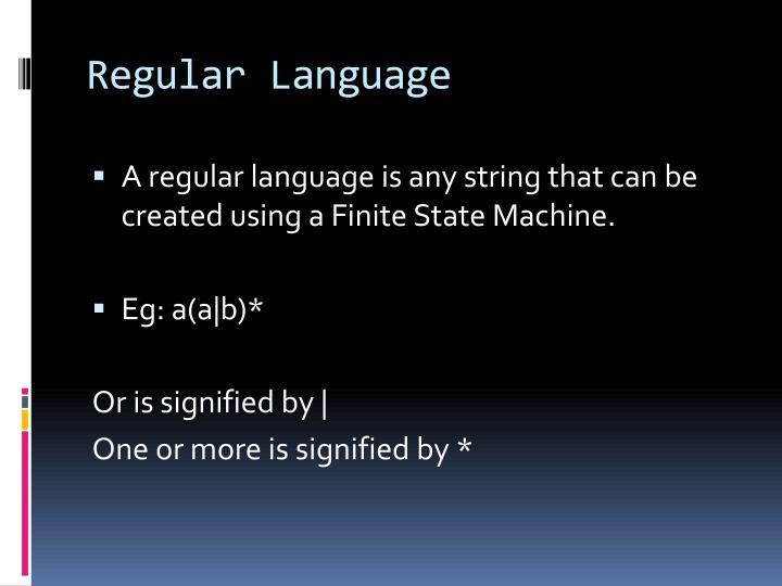 Regular Language