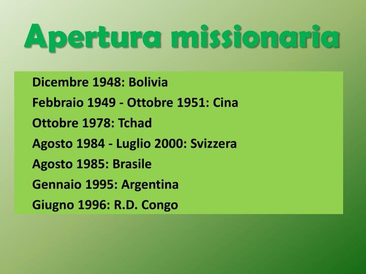 Apertura missionaria
