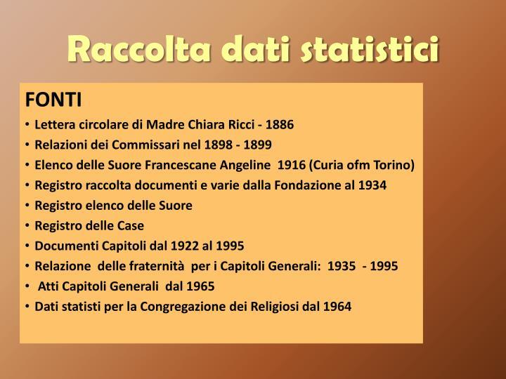 Raccolta dati statistici