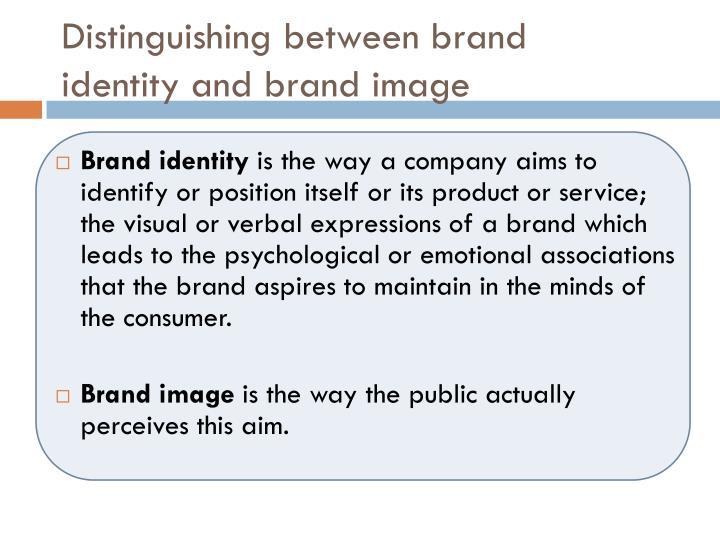 Distinguishing between brand identity and brand image