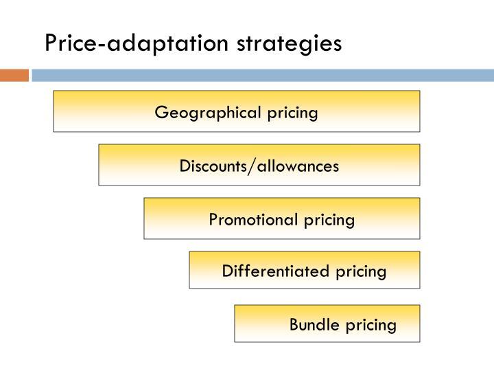 Price-adaptation strategies