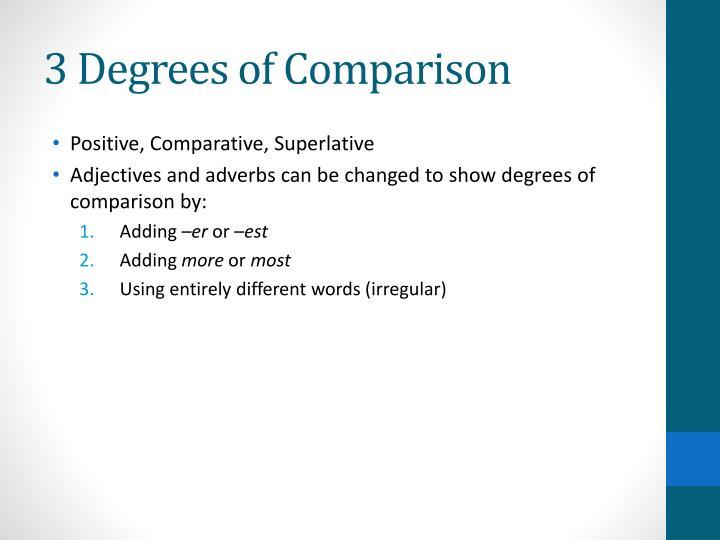 3 Degrees of Comparison
