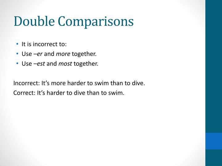 Double Comparisons