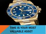 time is your most valuable asset