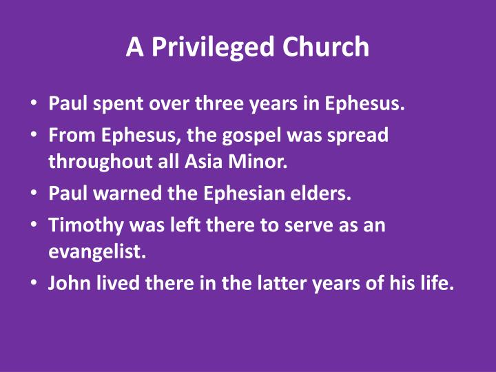 A Privileged Church