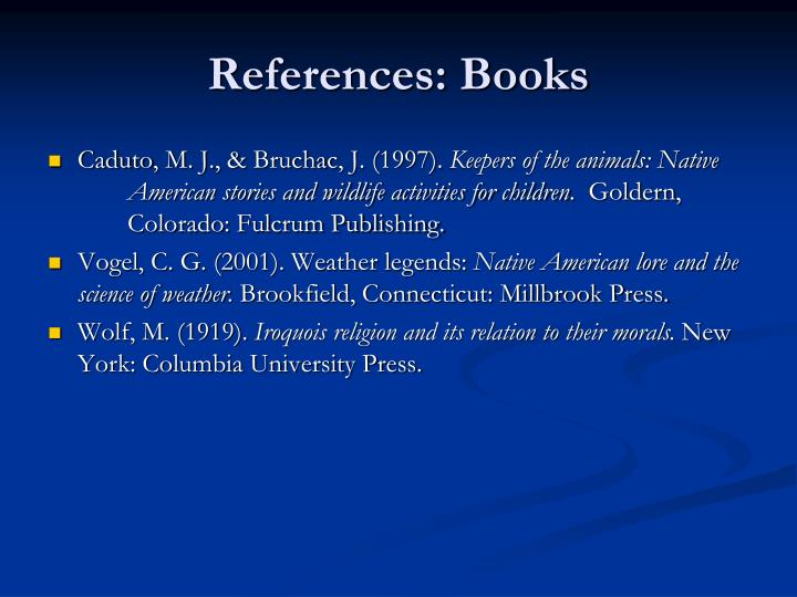References: Books
